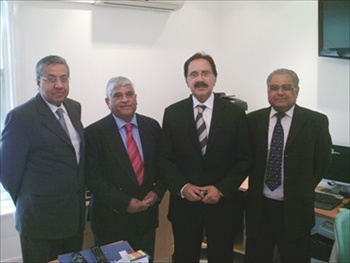 Dr. Ashiq Ghauri with Mr Makhdoom Amin Fahim and friends